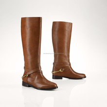 Brown leather Horse Riding long boots, Rain Boots, long boots