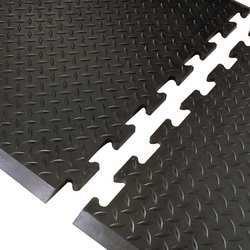 Antifatigue Mat 3 ft.x31 In Black Rubber