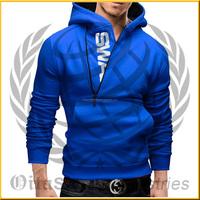 2015 New Arrival Side Zipper Design Hoodies Men Fitness Fleece Hoodie Sport Cardigan Sweatshirts with Hoody