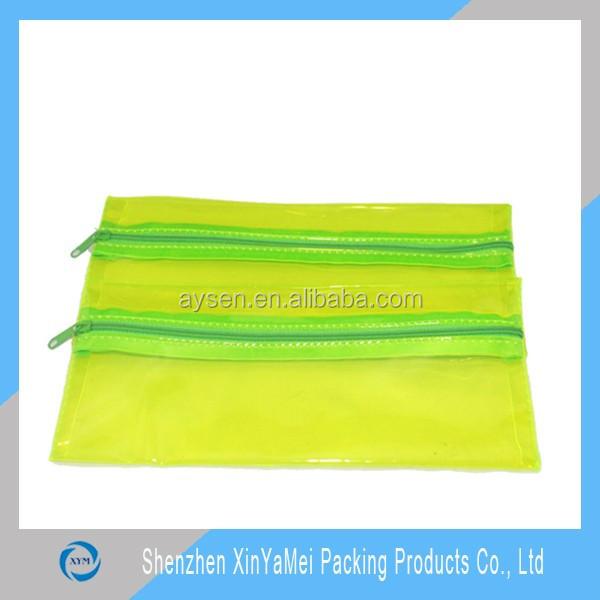 Good quality transparent mesh vinyl pvc zipper bag