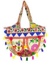 White Banjara bag Bohemian Vintage Trendy tote bag Boho Sling Purse Embroidery handmade banjara bags