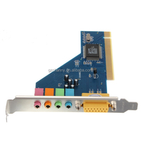 Newest Super Quality 4 Channel C-Media 3D Audio Stereo Internal PCI Sound Card Midi Game Port For Win7 64
