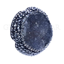 Wholesale Druzy Drusy Druse 925 Silver Jewelry from Turkey Natural Gemstones Handmade Rings Necklaces Grand Bazaar Jewelry