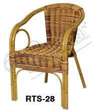 wicker lounge dining chair