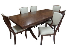 American style solid wood dining set ,classic home furniture,restaurant table and chair TN-356