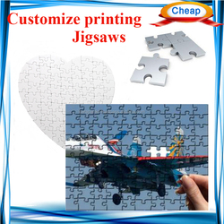 sublimation blank mdf custom jigsaw ,personalize printing shop business