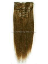 Ali express 24 inch clip on human hair weft extension