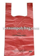 Promotional supermarket cheaper singlet plastic bag Tshirt with/without printing