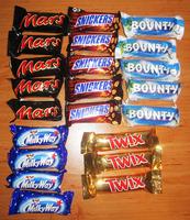 Bulk SNICKERS MARS BOUNTY TWIX CHOCOLATE