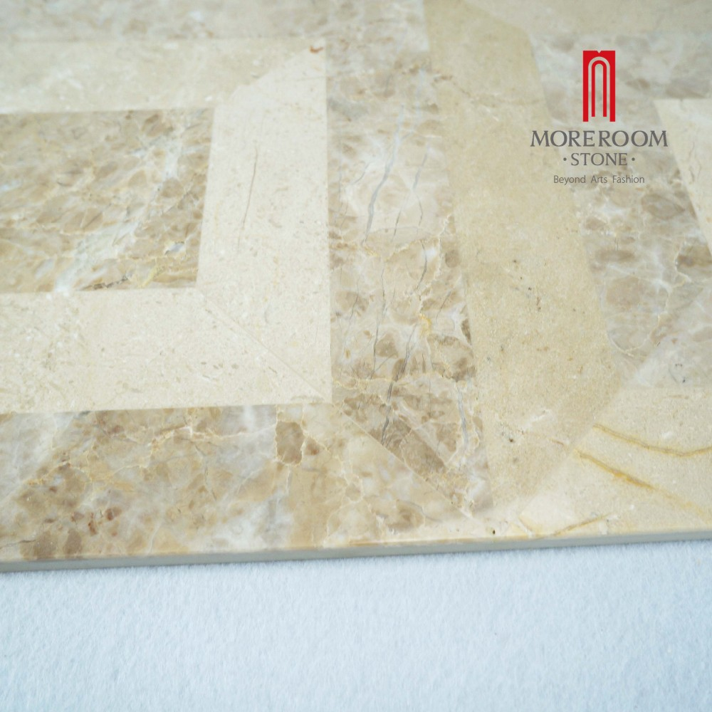 square home marble floor inlay