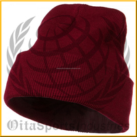 12 Inch Long Knitted Beanie - Maroon