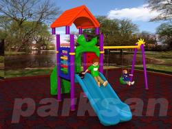inflatable stair slide, slide iron gates model