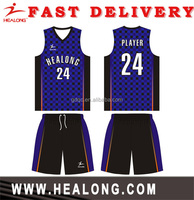Printing Quick Dry cheap basketball uniform basketball uniforms yellow color jersey wear