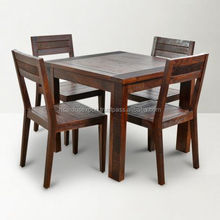 Venus Wood Dining Table With Four Chairs Brown apartments hot sale living room Luxury cheap wholeselling handmade Traditional