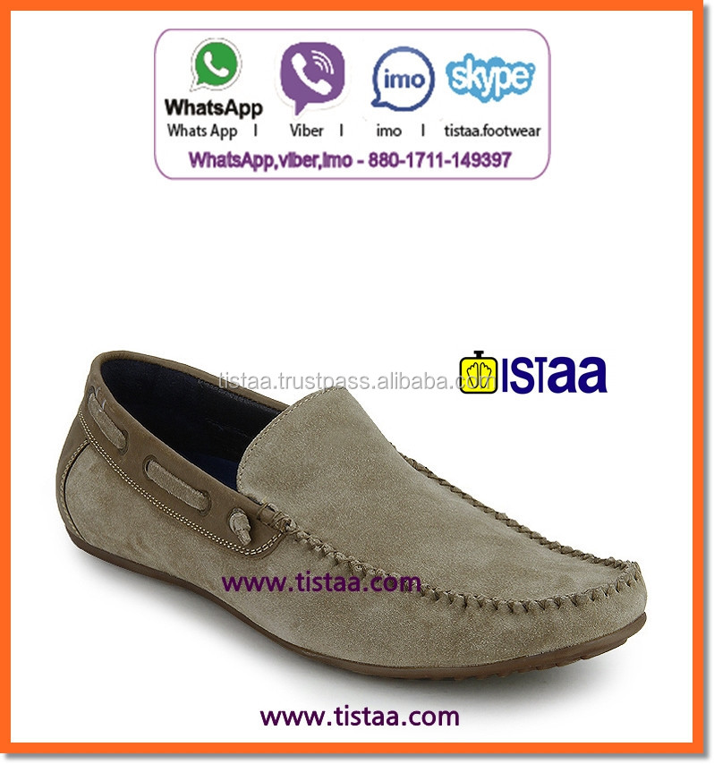 sport loafer casual shoe leather no laces casual shoes