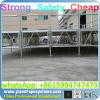 BEST factory price aluminum stage\/event stage\/used portable stage,fold up flats