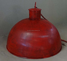 Red Antique Finish Vintage Pendant Lamp