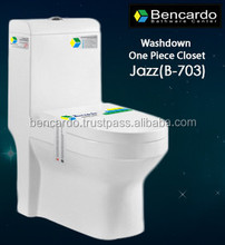Wash Down One Piece closet - One Piece Toilet - Gravity Flushing - Sanitary ware - Toilet - B- 703