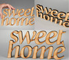 "Chipboard lettering ""SWEET HOME"" handmade"