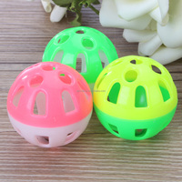 Pet Dog Jingle bell Round Ball Toys 3Pcs Colorful Plastic Outdoor Puppy Teddy Training Fetch Playing Balls