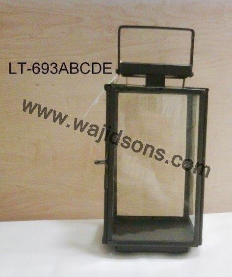 in acciaio inox stand lanterna di vetro prodotto da Royal de wajidsons