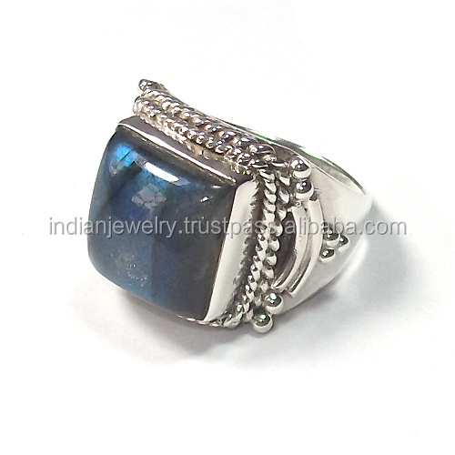 925 sterling silver rings wholesale labradorite rings semi