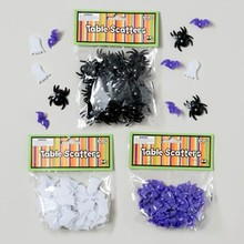 TABLE SCATTERS HALLOWEEN 40PC PLASTIC SPIDER/BAT/GHOST #G89932