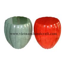 Quality environmentally friendly hand made vietnamese pumpkin shaped wooden tea tables