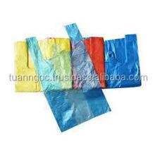 hdpe t-shirt plastic bag Custom color available, Custom size available