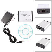 USB 2.0 Ethernet Network LPR Print Server Printer Share Hub Adapter with LED #79517