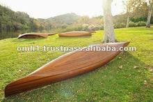 De madera real canoa 18' canoa de madera