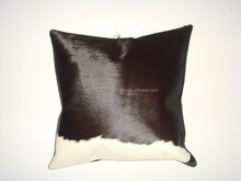 LEATHER COW HIDES CUSHION COVER
