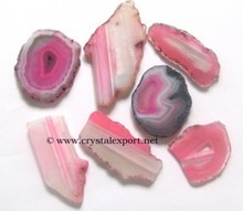 Pink Onyx Slices:supplier of Agate Slices