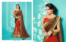 Rich Party Wear Saree-Bridal heavy look saree-party wear sari wholesale -bridal saree online wholesale