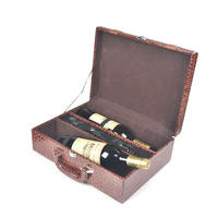 363x275x124mm bottle stopper & waiter friend & pourer PU Wine Box Set