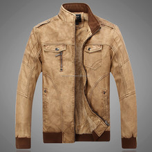 2015 Winter Casual PU Faux Leather Jacket Men Motorcycle Jackets Plus Velvet Thick Warm Jaqueta Male Jackets And Coats L- XXXL