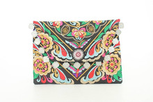 Beautiful Thai Clutch Black Ethnic Pattern Thailand