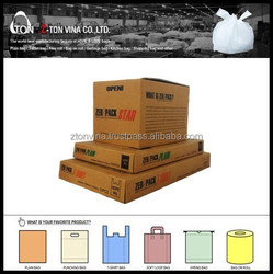 BOX TYPE CLEAR HDPE PLAIN GARBAGE BAG FOR JAPANESE CUSTOMER