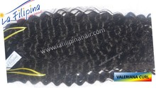 """Exclusive """"E""""-grade quality Tangle And Shedding Free valeriana curl Remy Human Filipino Hair"""