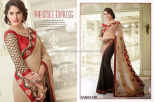 Wholesale Partywear saree-Bollywood style chiffon indian saree / Sari / shari