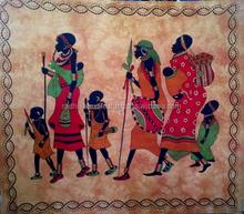 Indian handmade Celtic printed tapestry designer wall hanging printed table runner