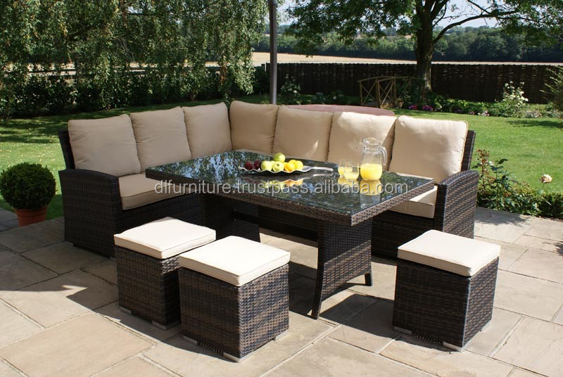 2015 Hot sale Modern resin wicker patio furniture of rattan and rattan wicker