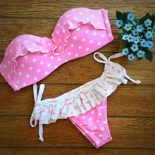 2015 new arrival girls hot sexy swimsuit cheap halter bikinis low-waisted sexy brazilian swimwear triangle bikini