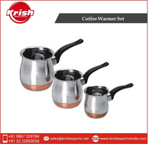 3 Pcs Copper bottom Coffee Warmer with Bakelite Handle