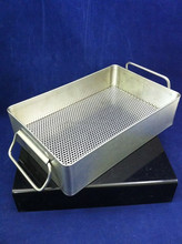 NEW STAINLESS STEEL INSTRUMENT TRAY Handles Perforated Bottom