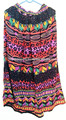 colección primavera verano tribales étnicas gitanas nuevo floral de impresión faldas largas