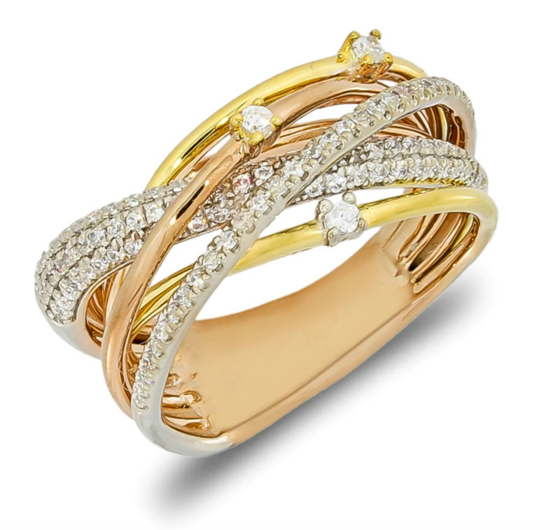diamond ring italian design white gold yellow gold pink gold rose gold fashion diamond ring. Black Bedroom Furniture Sets. Home Design Ideas
