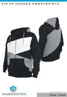 Multi Color Full Zip Hooded Sweatshirt