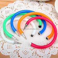 Hot Sale 1Pcs Flexible Ball Pen Ballpoint Pens Cute Soft Plastic Bangle Bracelet Wristlet Circlet School Supplies Random Colors