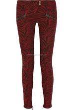 2015 fashion biker tie dye jeans for mens in red